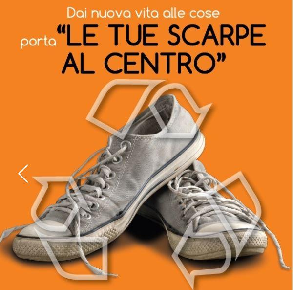"""best service eb1bd fd9fc Le tue scarpe al centro"""": raccolta di calzature usate per ..."""