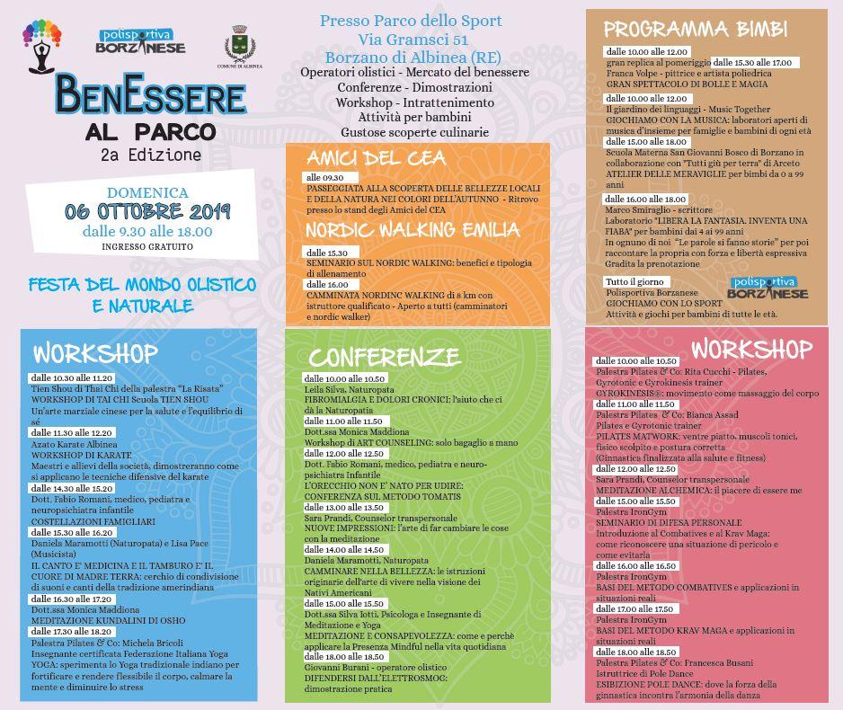 Domenica 6 Ottobre A Borzano La Seconda Edizione Di Benessere Al Parco Comune Di Albinea