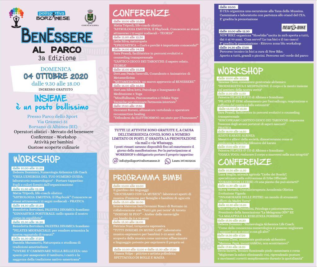 Domenica 4 Ottobre La Terza Edizione Di Benessere Al Parco Comune Di Albinea